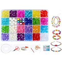 Vytung Beads Set for Jewelry Making Kids Adults Children Craft DIY Necklace Bracelets Letter Alphabet Colorful Acrylic…