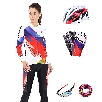 Beydodo Maillot de Ciclismo Mujer Conjunto de Traje ...