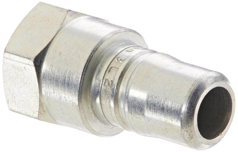 3//8 Port Size 3//8 Body Plug 3//8-18 NPTF Female Eaton Hansen 3L21 Steel Ring Lock Quick Connect Pneumatic Fitting