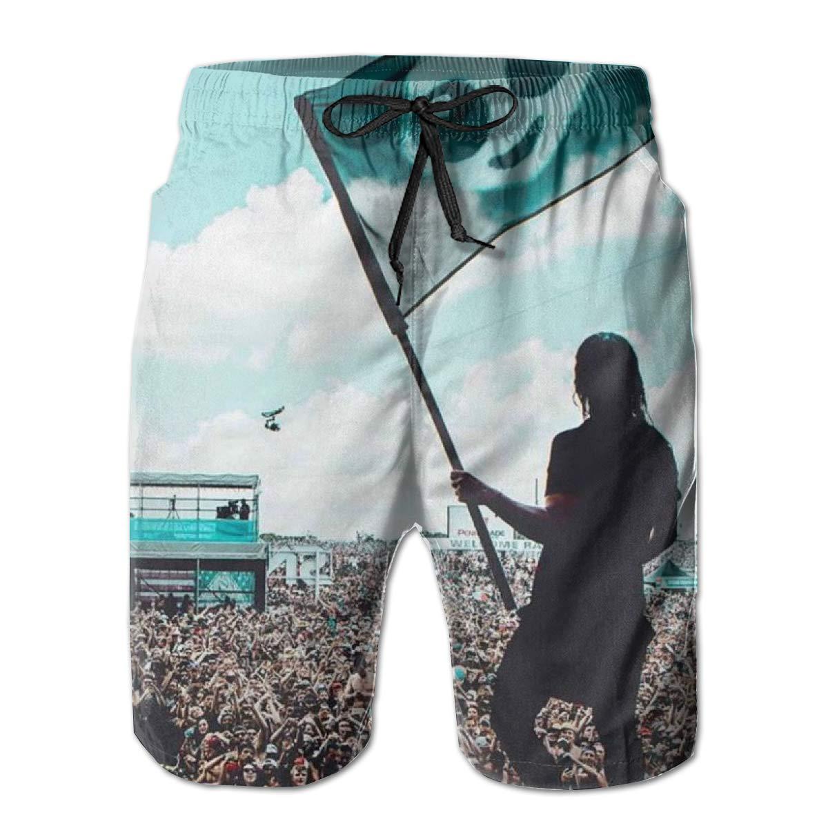 Nathalie R Salmeron Skrillex Mens Quick Dry Board Shorts Bathing Suit