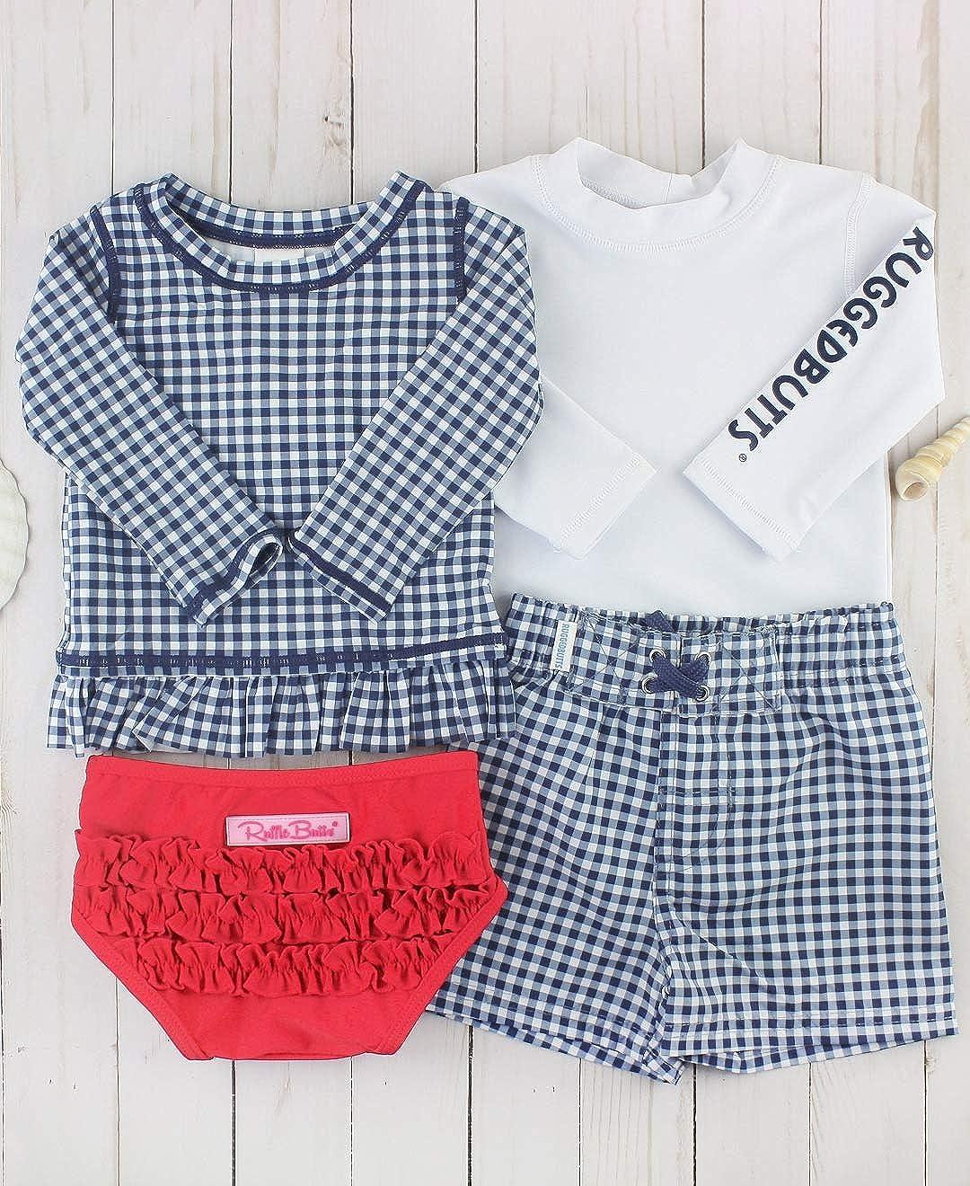 Sun Protection RGSYYXX-PRLS-SC-BABY RuffleButts Baby//Toddler Girls Rash Guard 2-Piece Swimsuit Set Long Sleeve Bikini with UPF 50