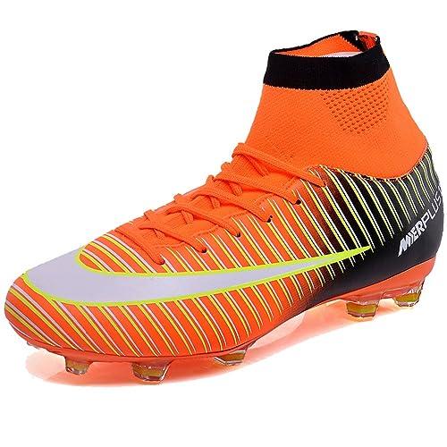 KAMIXIN Botas de Fútbol Hombre Aire Libre Deporte Cesped Artificial Zapatillas de Futbol Training Adolescentes Niños Zapatos de Fútbol: Amazon.es: Zapatos y ...