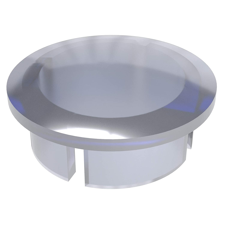 FORMUFIT F012IDC-UV PVC Internal Domed End Cap, Furniture Grade, 1/2' Size, Clear