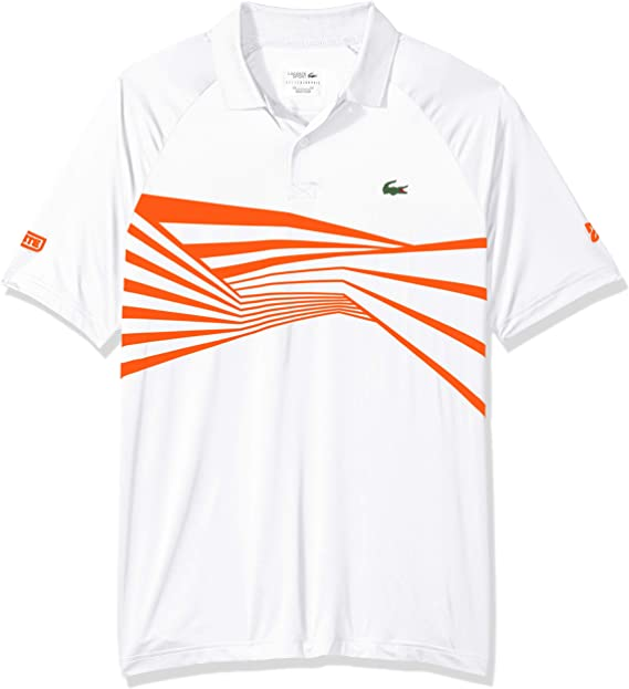 Lacoste Mens Sport Djovokic Short Sleeve Ultra Dry Print Polo