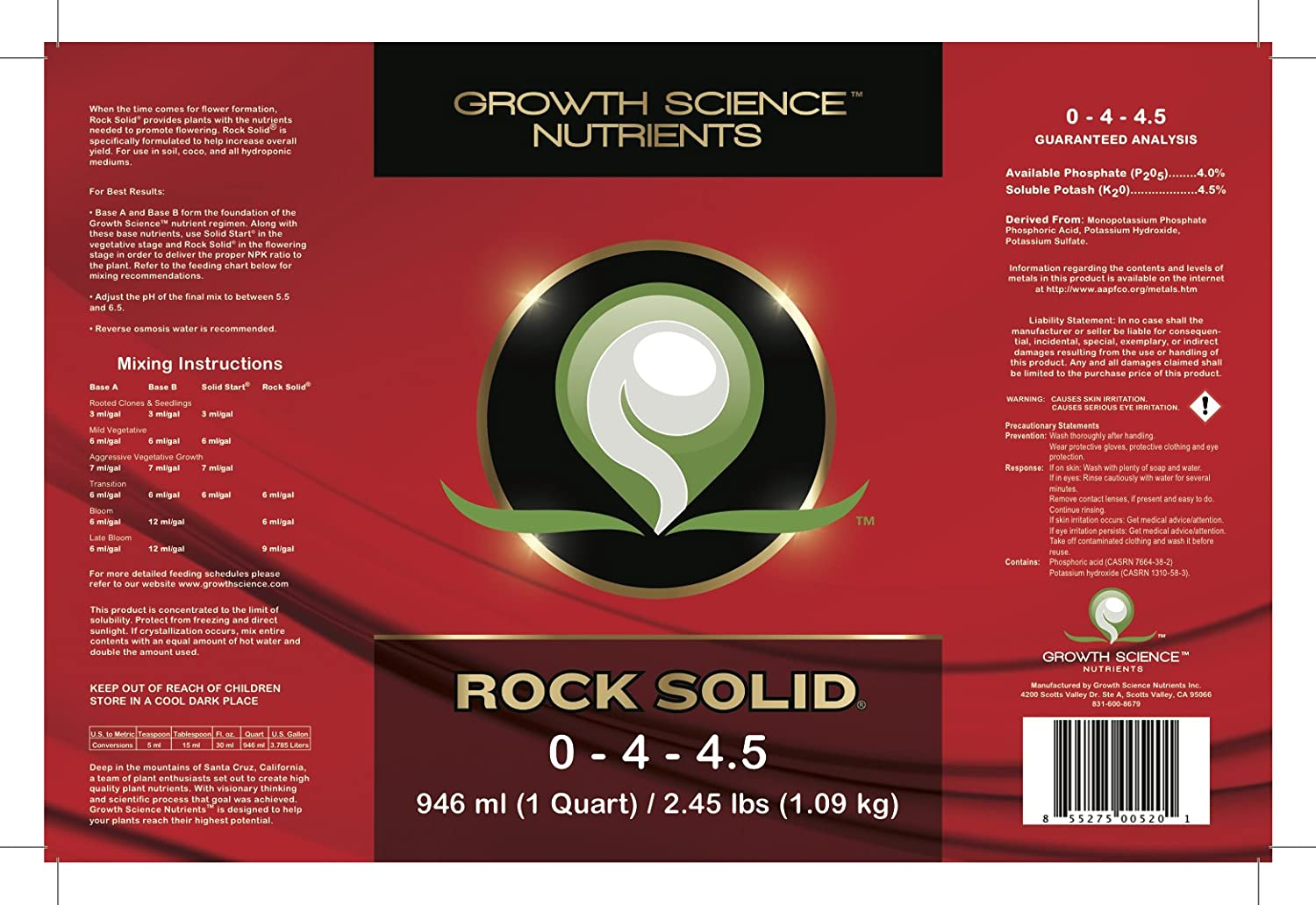 Amazon.com: Rock Solid - Super Bud Booster and Bloom Booster ...