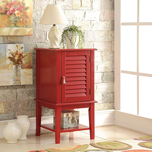 ACME Furniture Hilda Side Table, Red