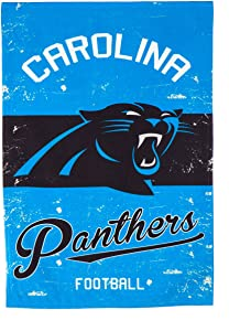 """Team Sports America Carolina Panthers NFL Vintage Linen House Flag - 28""""W x 44""""H Indoor Outdoor Double Sided Decor Flag for Football Fans"""