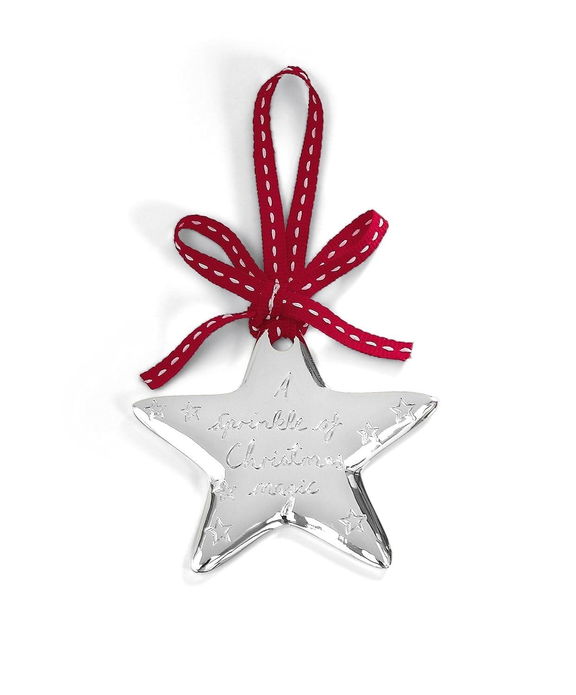 Silver Plated Star Mamas /& Papas Christmas Tree Decor