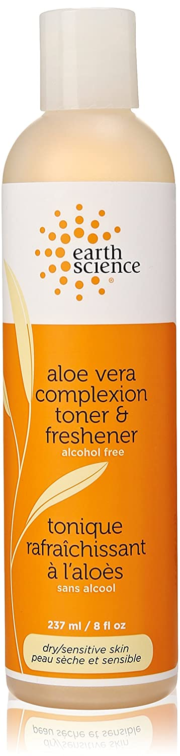 Facial Toner & Freshener-Aloe Vera Earth Science 8 oz Liquid Acne Blackhead Removal Tool Set 4PCS/Set Stainless Steel Blackhead Acne Blemish Removal Needle Kit Tool Specifically Treats Face Blemishes, Pimples, Zits and Whiteheads
