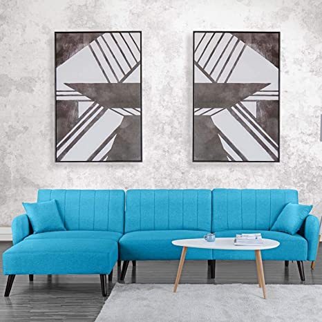 Miraculous Futon Recliner Sleeper Sofa Bed Couch Convertible Futon Sofa Sectional With Chaise Sofa To Bed Feature Left Or Right Modern L Shaped Lounger Download Free Architecture Designs Embacsunscenecom