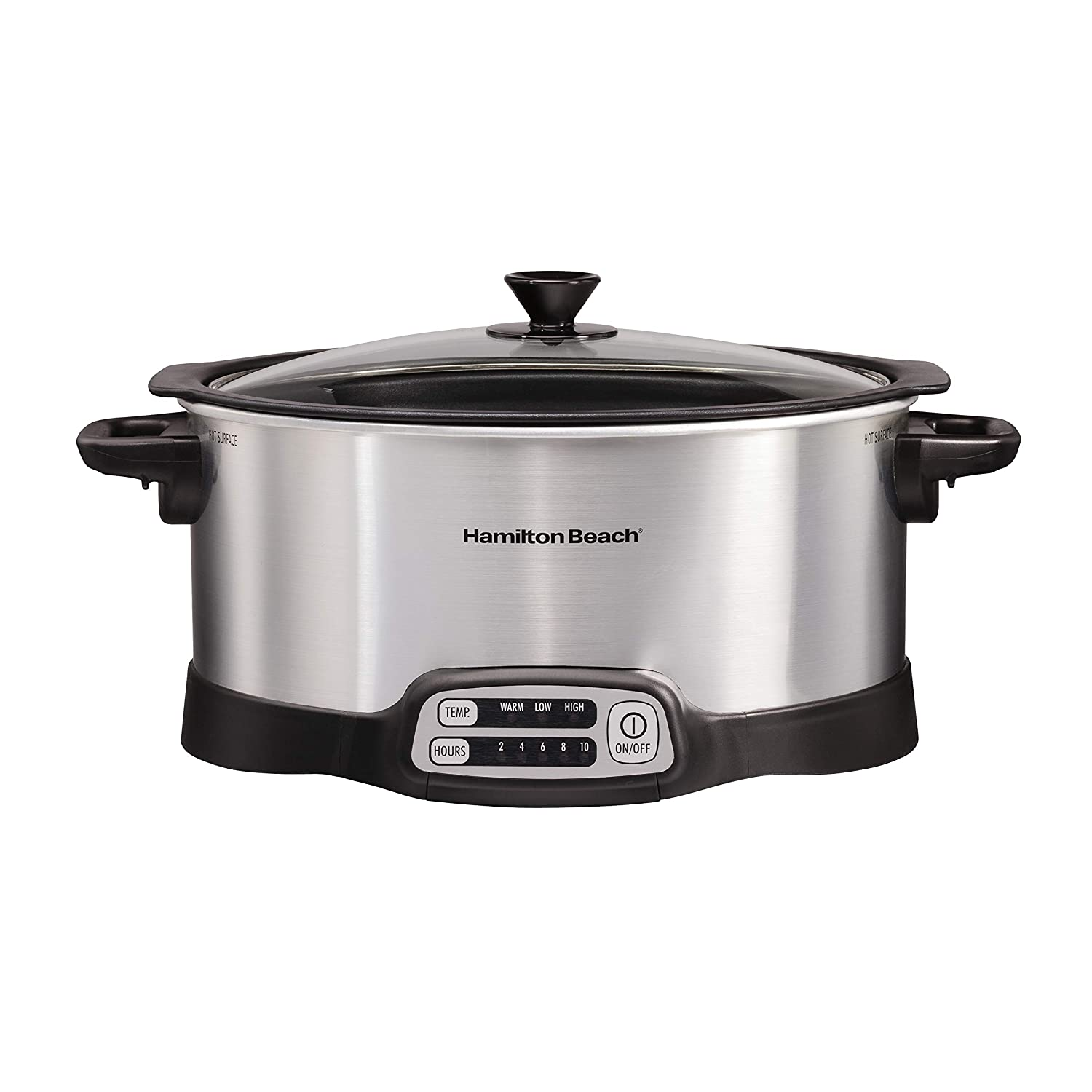 Hamilton Beach 33662 Stovetop Sear & Cook Slow Cooker 6 quart Capacity Stainless Steel