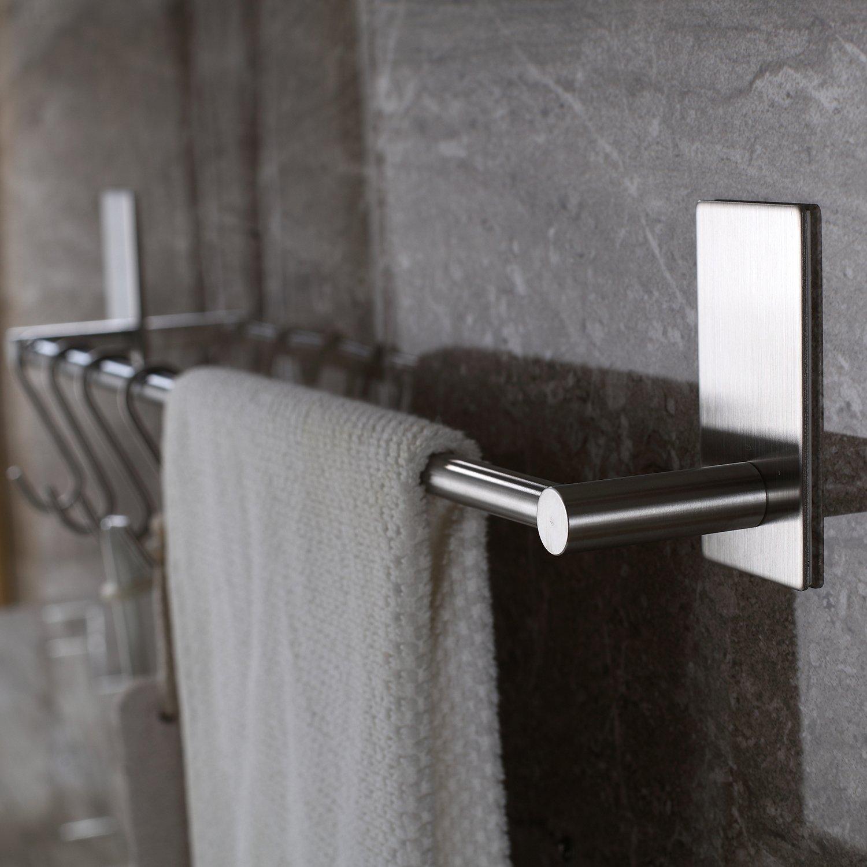 Selbstklebende Handtuchstange Handtuchhalter Ohne Bohren aus Geb/ürstetem Edelstahl 55cm