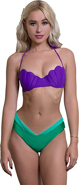 Amazon.com: Enchanted Bikinis Seashell carcasa Pinup color ...