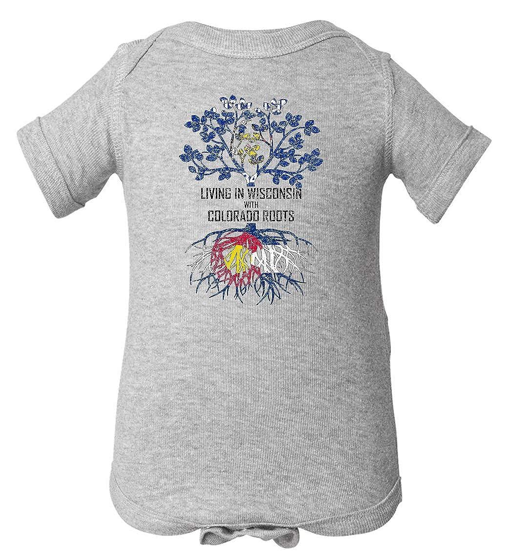 Tenacitee Babys Living in Wisconsin Colorado Roots Shirt