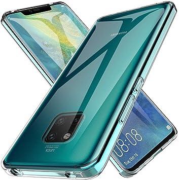 LK Funda para Huawei Mate 20 Pro, Carcasa Cubierta TPU Silicona Goma Suave Case Cover Play Fino Anti-Arañazos - Clara
