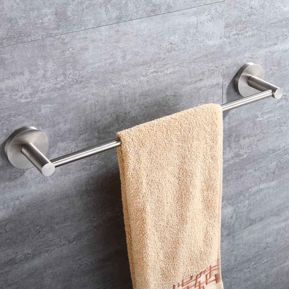 Mellewell Contemporary 16-Inch Towel Bar Bathroom Accessory Wall Mount, Stainless Steel Brushed Nickel, 06021