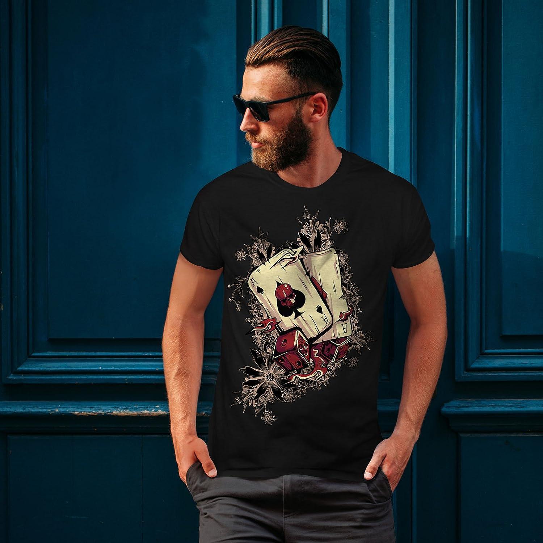 Ace Graphic Design Printed Tee Wellcoda Gamble Poker Player Mens T-shirt