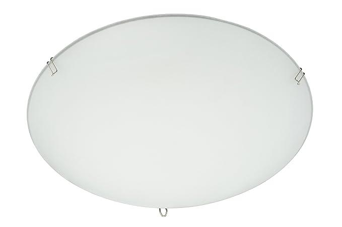 Plafoniere Vetro Satinato : Plafoniera cromo vetro satinato cornice chiaro w e v art