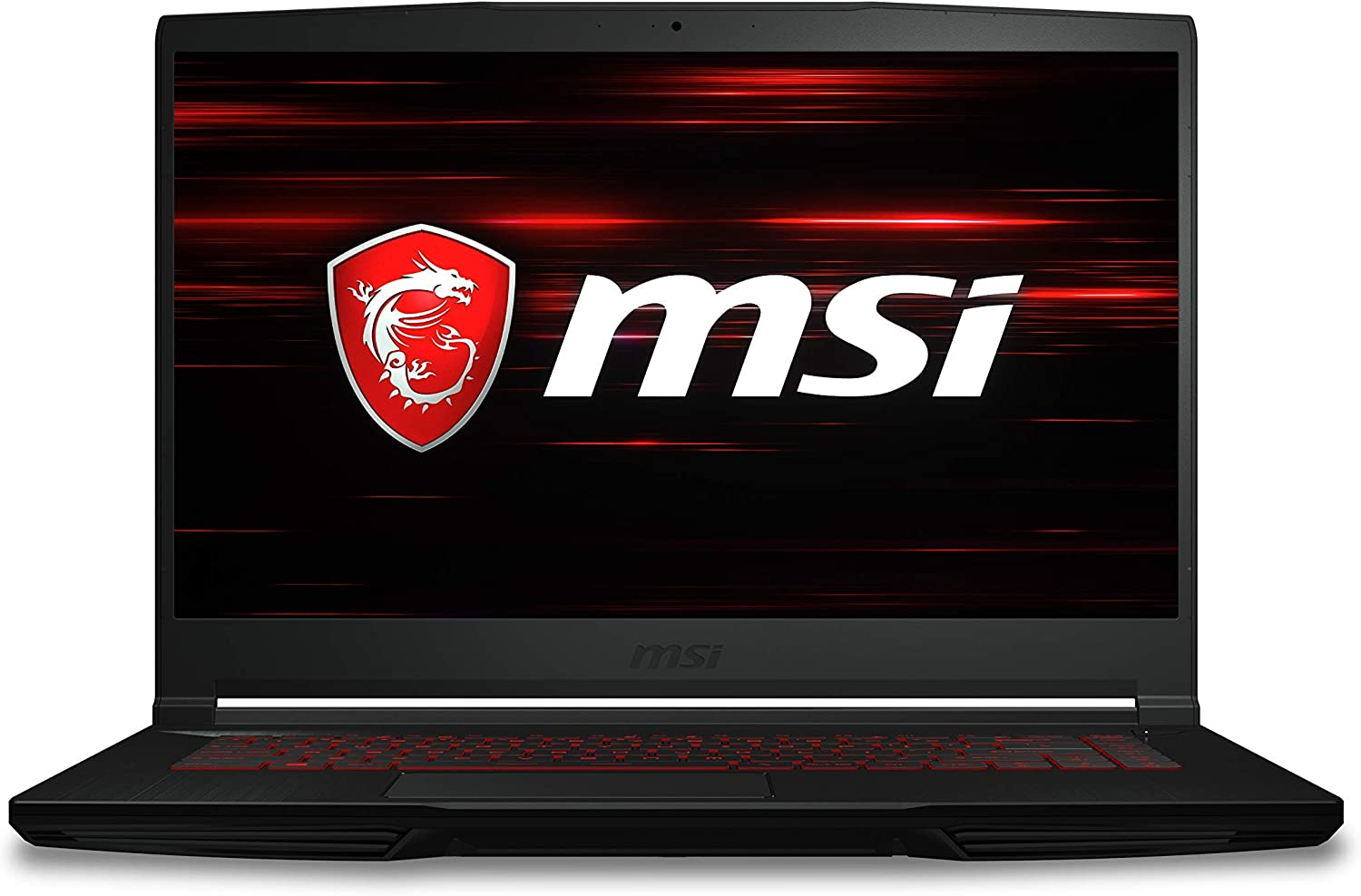 "MSI GF63 Thin 9RCX-818 15.6"" Gaming Laptop, Thin Bezel, Intel Core i7-9750H, NVIDIA GeForce GTX 1050 Ti, 8GB, 256GB NVMe SSD (Renewed)"