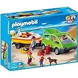 Playmobil - 4144 - Voiture familiale avec remorque porte-bateaux
