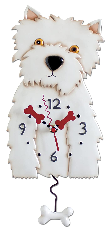ENESCO P1328 Westie Clock 36 cm Resin