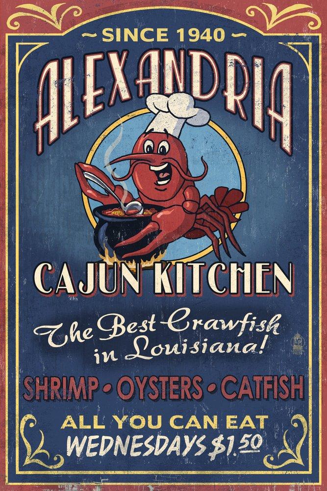 アレキサンドリア、ルイジアナ州 – Art CajunキッチンCrawfish – Vintage Sign 24 x Sign x 36 Giclee Print LANT-55067-24x36 B07B2D1VW7 24 x 36 Signed Art Print 24 x 36 Signed Art Print, Living & FLowers 自由が丘:a0f2175e --- rdtrivselbridge.se