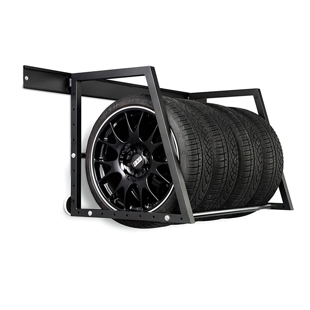 Car Wheel & Tyre Wall Mountable Storage Rack