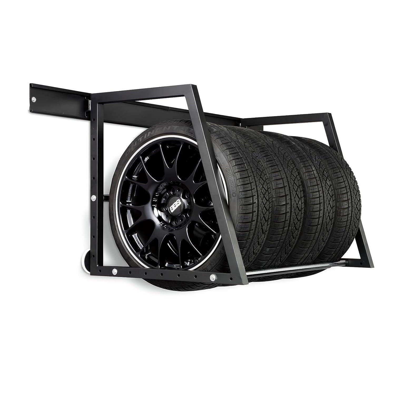 Car Wheel & Tyre Wall Mountable Storage Rack SAC Electronics