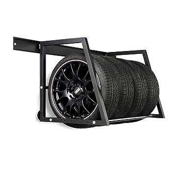 Estante de almacenamiento de ruedas y neumáticos de coche para montar en pared: Amazon.es: Coche y moto