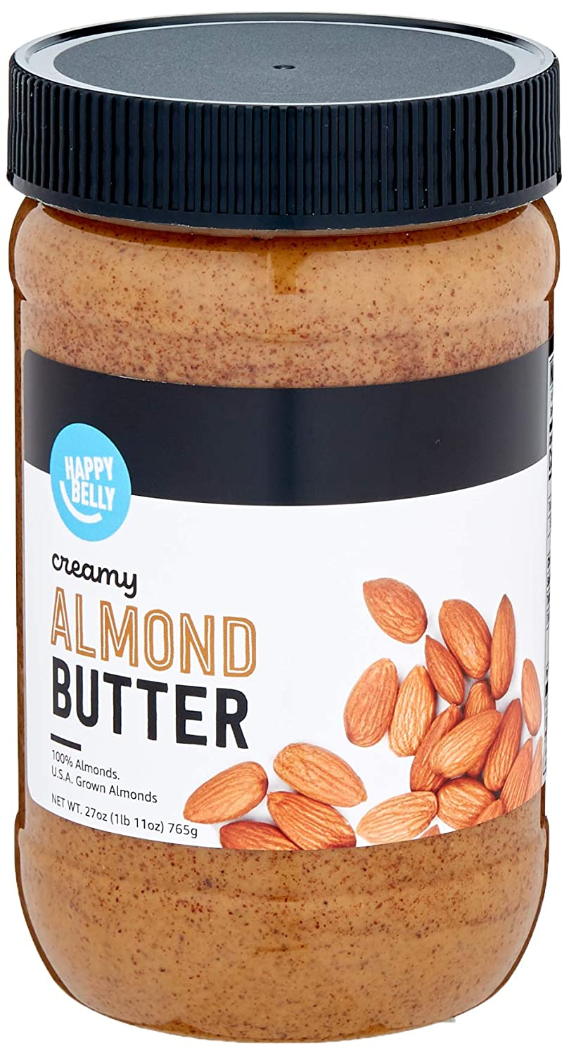 Amazon Brand - Happy Belly Almond Butter, 27 Ounce