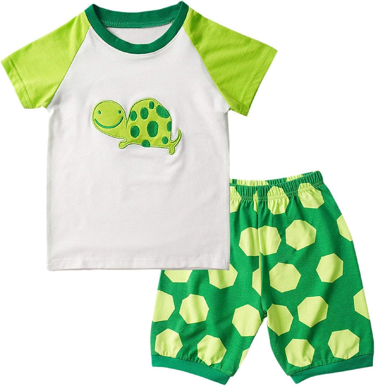 Dot Shorts Pants Casual Outfits Set Summer Cotton Clothes Toddler Baby Boy Girls Cute Cartoon Printed Tops