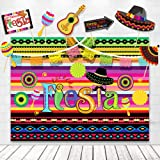 TMCCE Fiesta Theme Photography Backdrop Mexican Themed Dress-up Photobooth for Summer Fiesta Luau Theme Cinco De Mayo Birthday Pool Party Supplies Decorations
