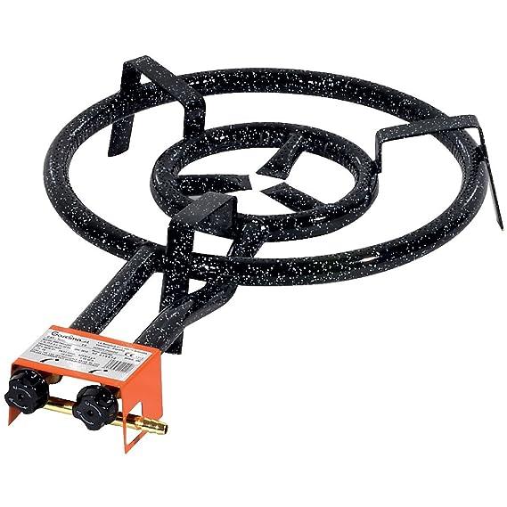 Garcima 20450 - Hornillo paellero 450/2 Fuegos, 45 x 70 x 11, 5 cm, Color Negro: Amazon.es: Hogar