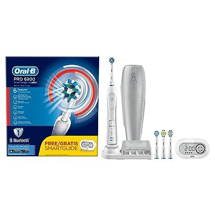 Braun Oral-B PRO 6200 - Cepillo de dientes eléctrico de rotación, color negro