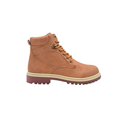 Gold Toe Men's Distressed Nubuck Lace Up Casual Work Boots with Contrast Sole | Boots