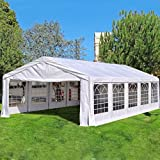 Quictent 5X10M (16.4X33FT) with GROUND BAR white Marquee Heavy Duty waterproof wedding party tent CARPORT CAR Canopy Garage