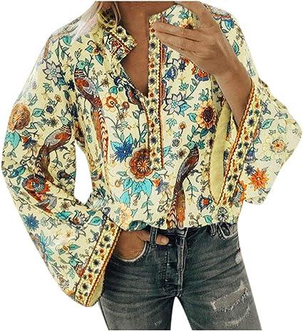 Deman outfit-Artistic9 - Camisa de Mujer Vintage Floral con ...