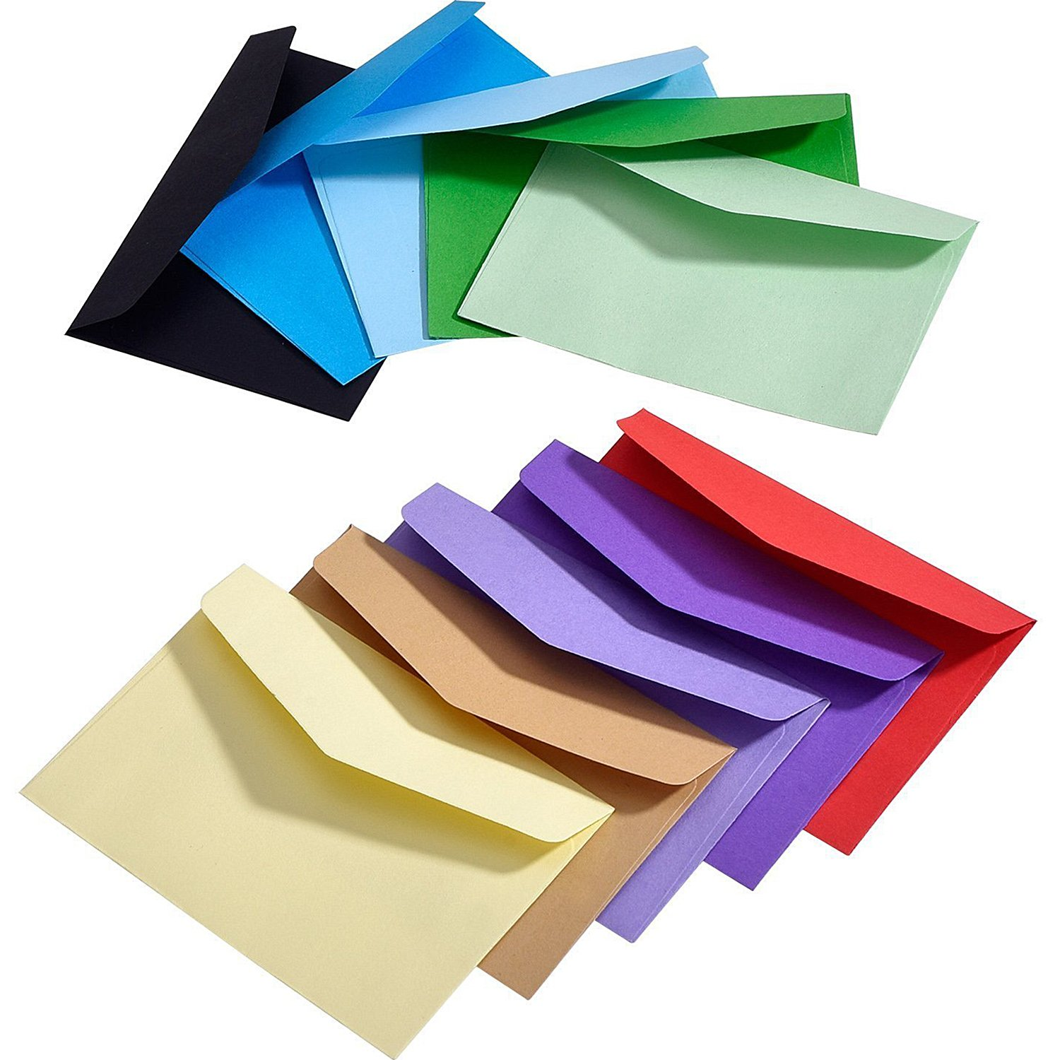 100 Pieces Mini Envelope Multi Color Cute Lovely (4.5 x 3.15 Inch) for Wedding, Birthday Party Gift Supplies eBoot