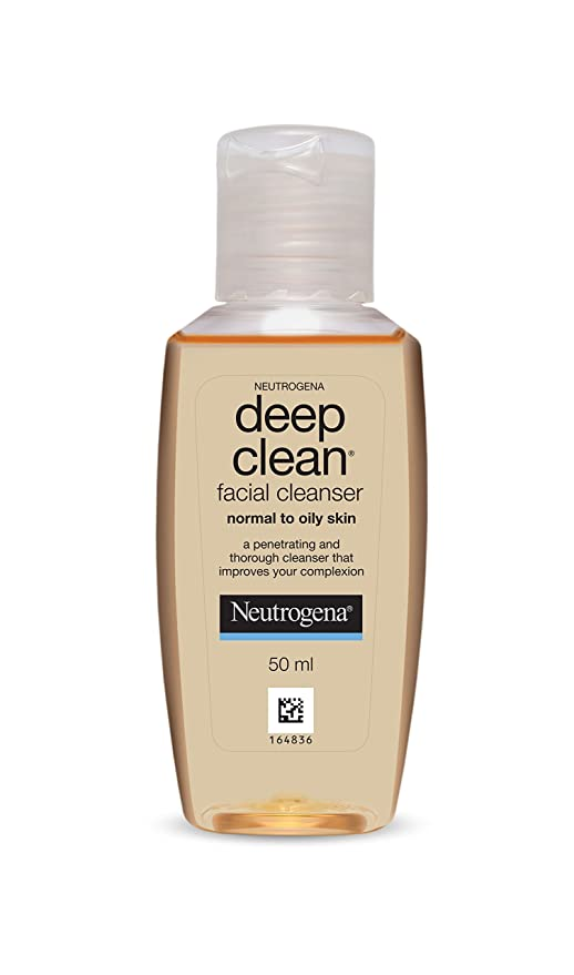 Nuetrogena deep clean facial cleanser