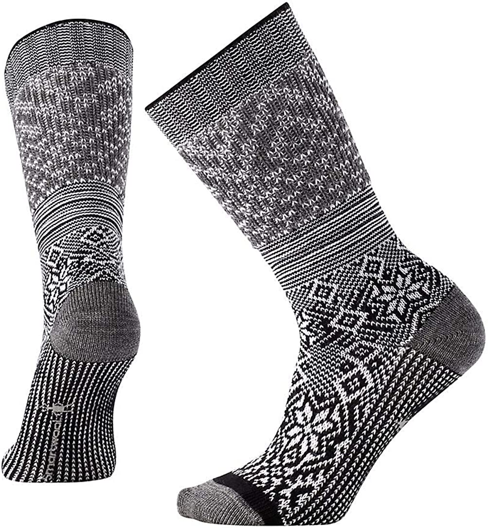 Women/'s Snowflake Flurry Wool Performance Sock Smartwool PhD Outdoor Light Mid Calf Socks