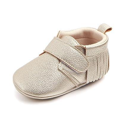 39731f87235 Antheron Infant Moccasins - Unisex Baby Boys Girls Soft Sole Tassels Toddler  First Walker Shoes