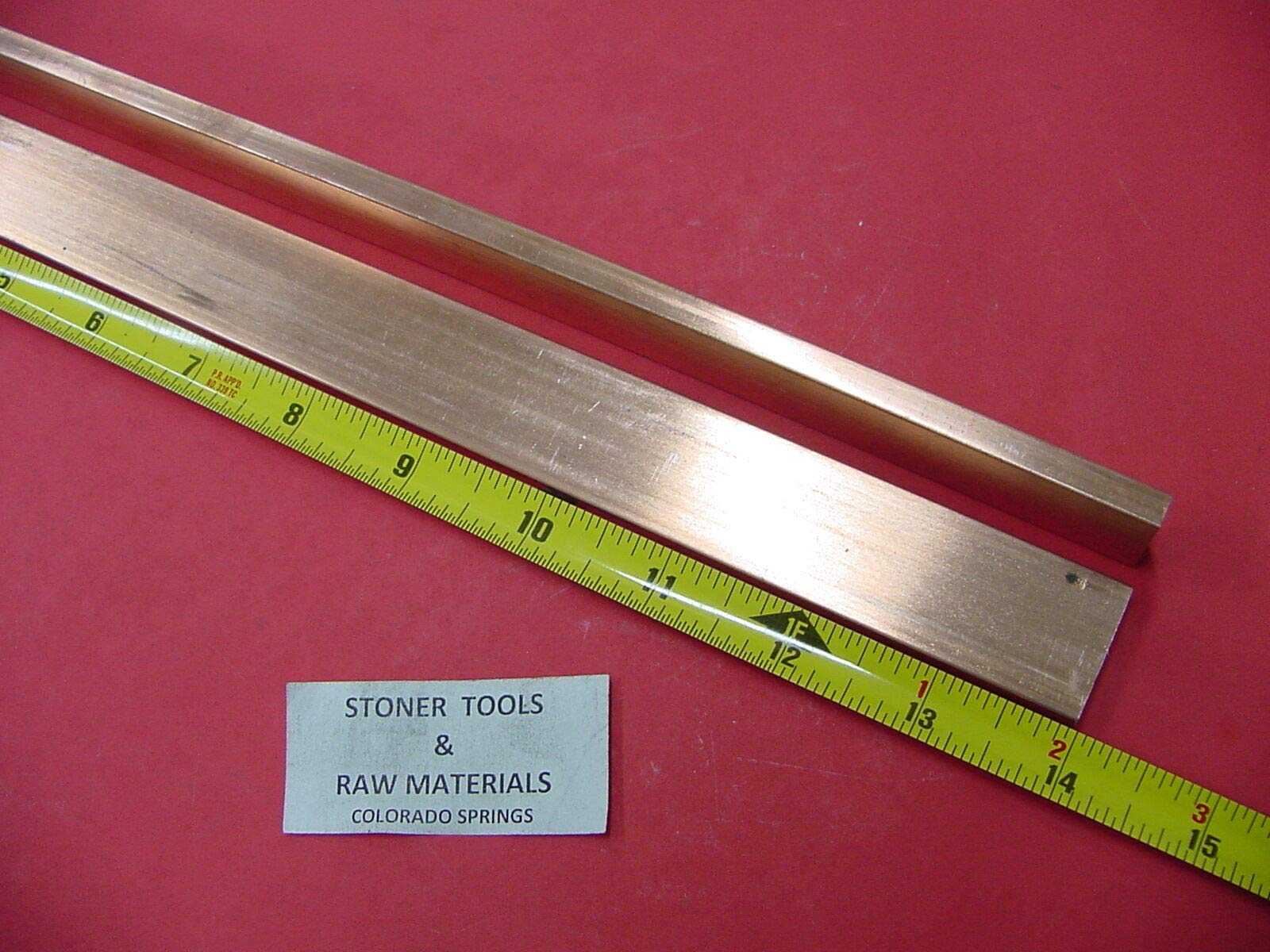 2 Pieces 1/4''x 1'' C110 Copper BAR 14'' Long Solid Flat Bar Mill Bus Bar Stock H02 by Okumahome