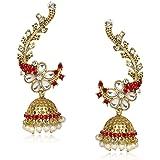 Meenaz Ear cuffs Traditional Earrings For Fancy Party Wear Wedding Kundan Moti Pearl Earrings For Womens And Girls T373