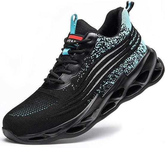 [マンディー] 安全靴 あんぜん靴 作業靴 スニーカー レディース メンズ 鋼先芯(JIS H級相当) おしゃれ 軽量 通気 ワークマン シューズ 滑り止め 耐摩耗 セーフティーシューズ