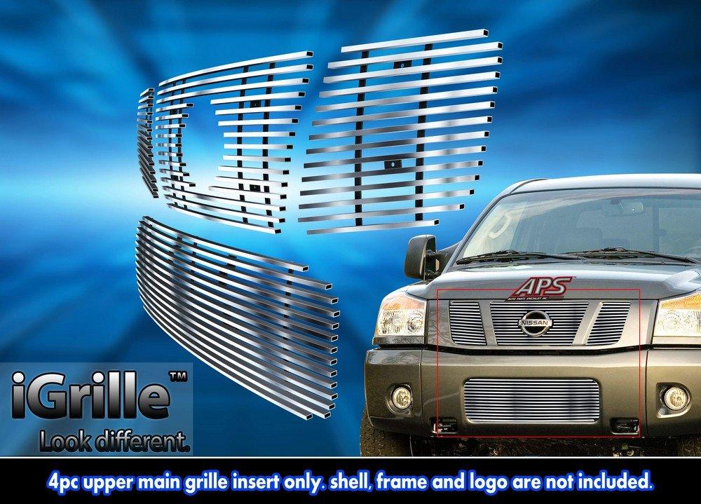 Front Bumper Primed Black Lower Grille Filler Panel 4Pc For 2006-2007 4Runner