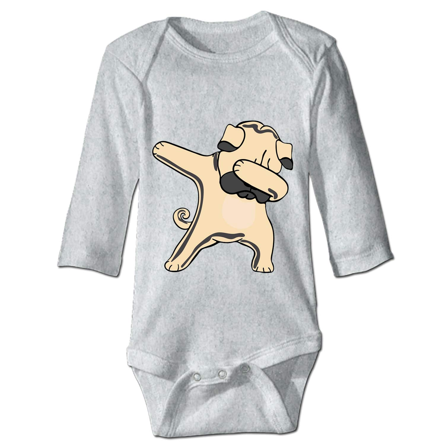 Baby Girl Casual Clothes Cute Blue Frenchie is Ready for Winter Long Sleeve One-Piece Suit Romper Home Outfit