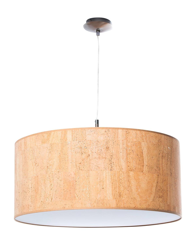 Hochwertige Hängelampe | Hängeleuchte aus Kork | Terracotta | XXL | Pendelleuchte | Wohnzimmer | Esszimmer | Schlafzimmer | Ø 55cm | Abdeckung satiniert| LED geeignet | dimmbar |