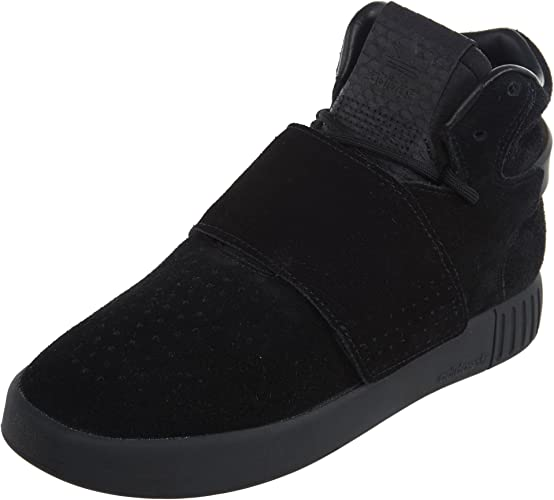 new images of brand new cheaper Amazon.com | adidas Tubular Invader Strap J Big Kids Shoes Cblack ...