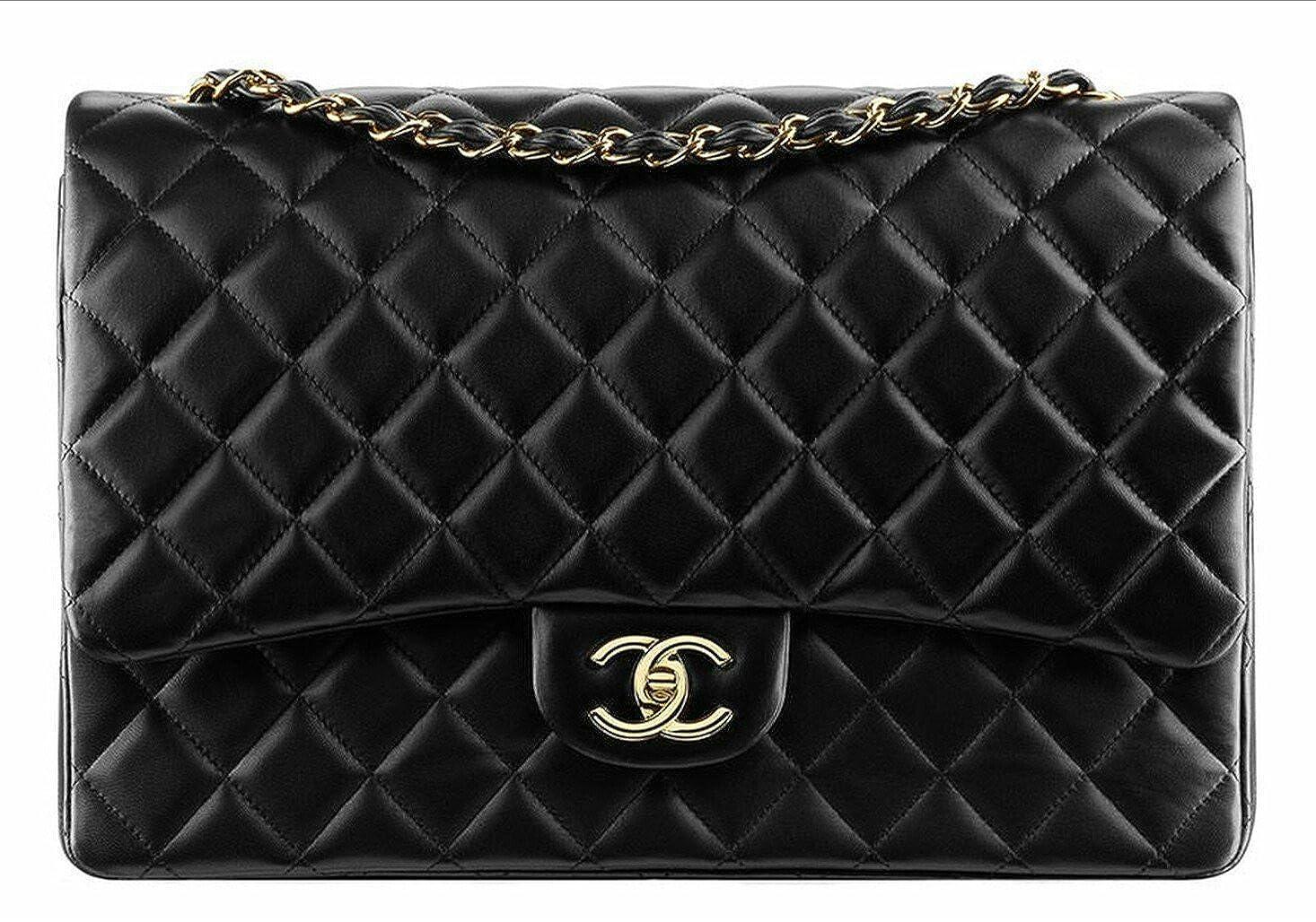 4139a41d0421 CHANEL Jumbo Lambskin Classic Double Flap Bag: Amazon.co.uk: Shoes & Bags
