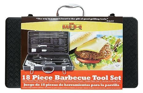 Mr. Bar-BQ 94056Y 18-Piece Tool Set with Plastic Case